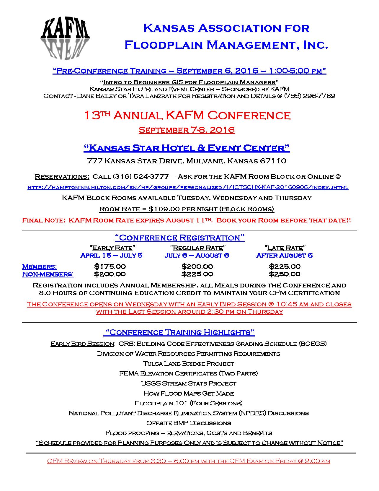 2016 KAFM Conference Flyer amended 4.6.16
