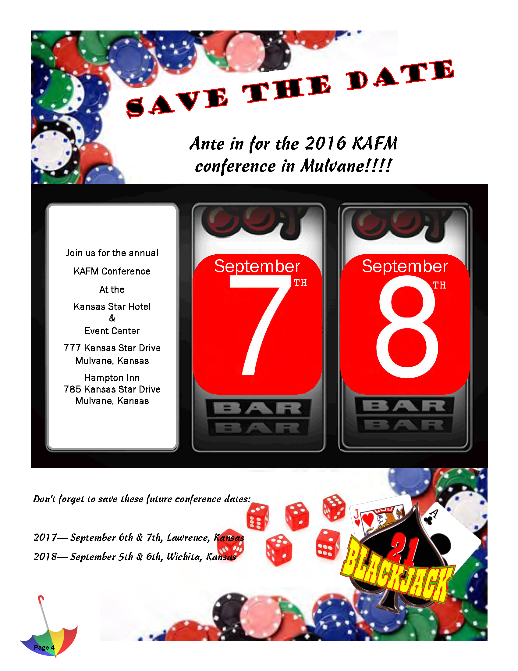 2016 Save the Date Flyer