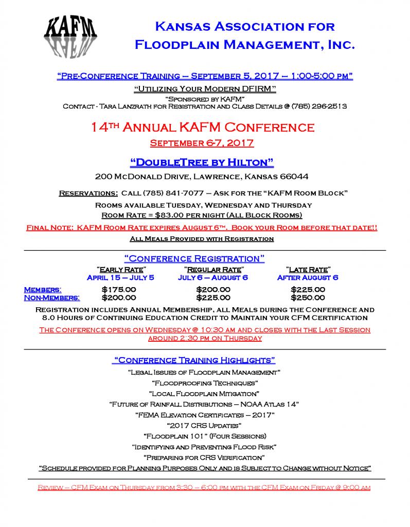 2017 KAFM Conference Flyer amended 5.19.17